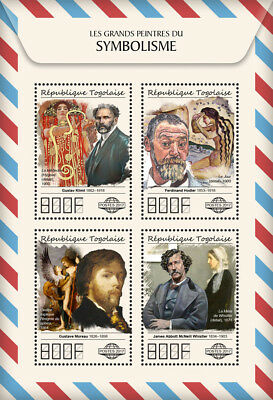 Z08 IMPERF TG17511a Togo 2017 Great painters of Symbolism MNH Mint
