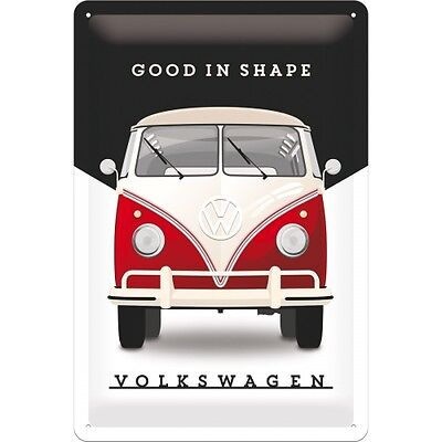 Metal Sign Embossed Vintage Volkswagen VW Good In Shape Kombi Bulli Garage Decor