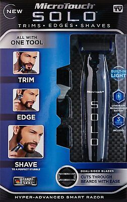 MicroTouch Micro Touch SOLO Rechargeable Trims Edges SMART Razor Shaver US STOCK