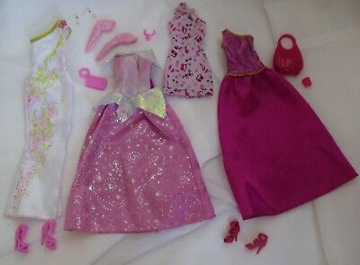 Lot of 13 Clothing Interchangeable Outfits for Barbie
