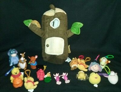 Winnie The Pooh Tree House Figures And Keychains Lot