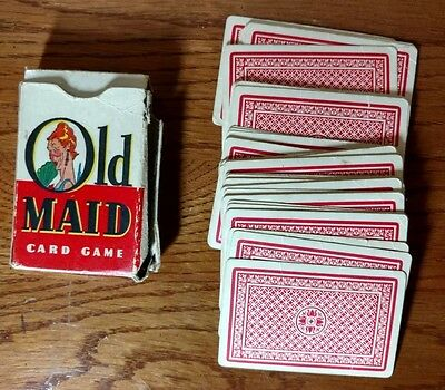 Vintage Old Maid Card Game Whitman 45 cards 3009
