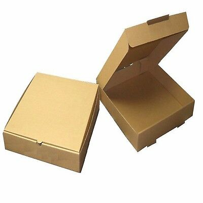 Brown Plain Pizza Boxes Takeaway Pizza Box Strong Postal Boxes 7 - 20 Inch