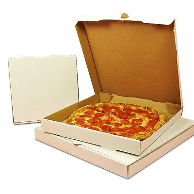 White Plain Pizza Boxes Takeaway Pizza Box Strong Postal Boxes 7 - 20 Inch