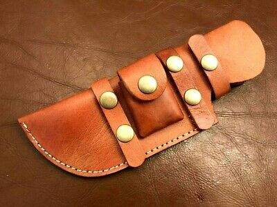 Beautiful Handmade-Stitched Cow Hide Leather Sheath-Knife Cover-Outdoors-LS32
