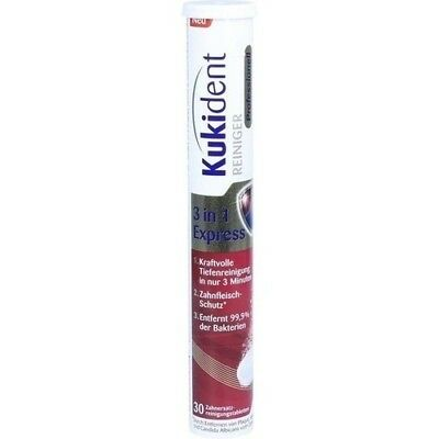 KUKIDENT Professionell 3in1 Express Tabs 30 St 11239572