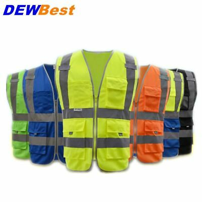 High Visibility Reflective Vest Working Clothes Motorcycle Cycling Sports Outdoo