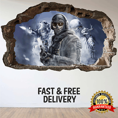 Call of Duty WW2 COD Ghost Recon Modern Warfare Bedroom Mural Gamers Wall Art 3