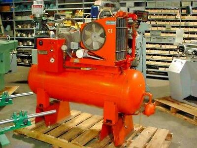 10 Hp Rotacomp-Bauer Germany Rotary Screw Air Compressor 80 Gal Tank 220 3 Phase