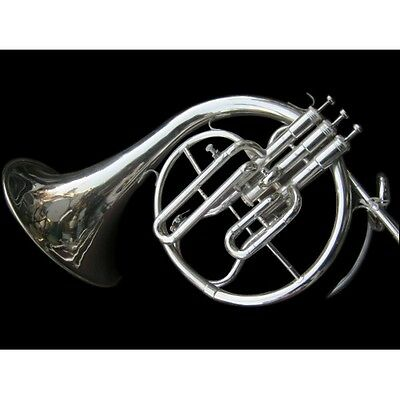 Horn French (Mellophone ) In Bb Pitch+F Pitchwid Extra Slide+Case+ Free Shipping