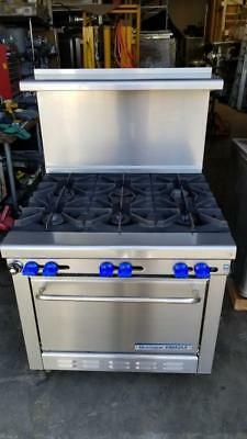 """Montague GRIZZLY G26-6 6 Burner Range 34"""" w/ Oven Casters Very Good Condition"""