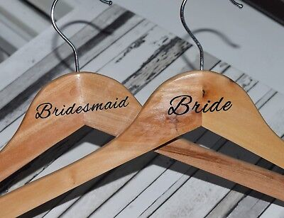 Wedding bridal party hanger vinyl decal transfer stickers