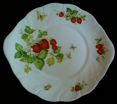 Queens Virginia Strawberry Cake Plate china