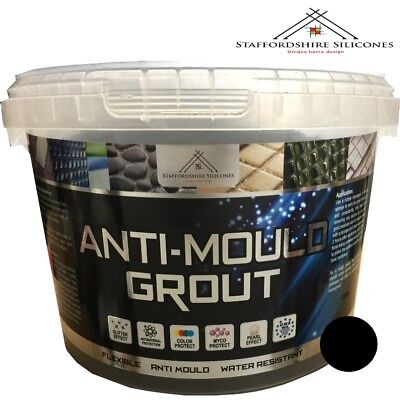 Black Anti mould grout, Flexible, Water resistant, Wall or floor tiles