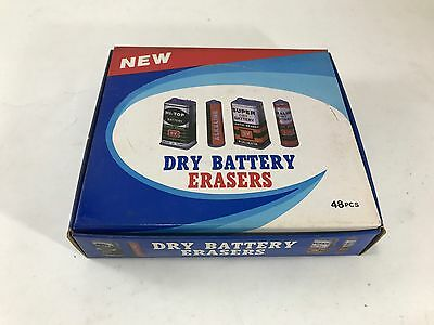 48 GOMME PROFUMATE 80's Vintage collection stationery eraser novelty DRY BATTERY