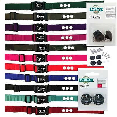 """Sparky Pet 1 """" Replacement Dog Collar 3 Hole with RFA 529 + 2 High Tech RFA 67"""