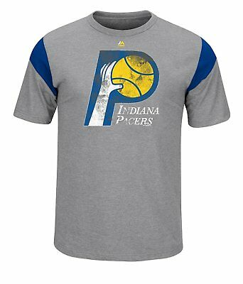 Indiana Pacers Men's XL Vintage Heather Gray Hardwood Classics T-Shirt NWT