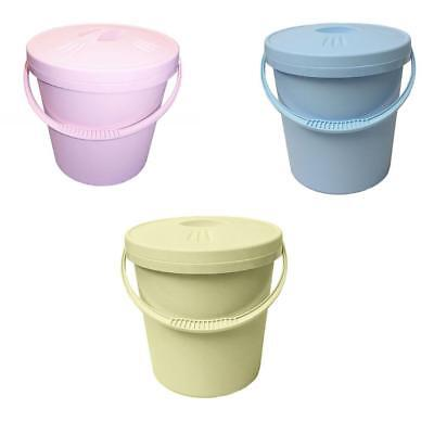Junior Joy Nappy Bucket / Pail with Lid - 16 Litre- Blue, Pink or Cream