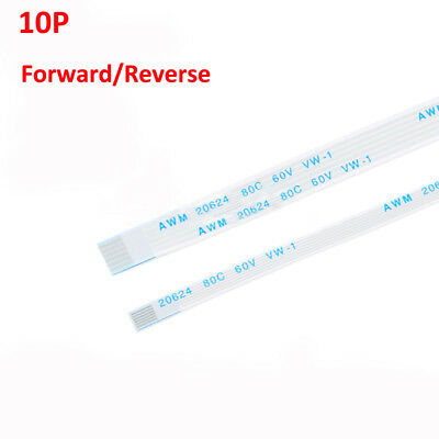 10-Pin FFC/FPC Flexible Flat Ribbon Cable Forward/Reverse Pitch 0.5/1.0mm