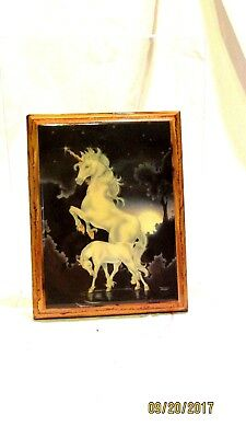 Vintage Unicorn Wall Hanging Plaque Mythical Fantasy