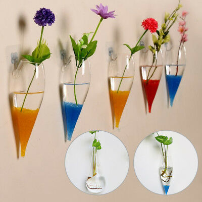 Hanging Glass Flower Planter Vase Terrarium Container Home Ball Decor