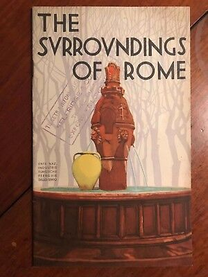 16 Page - 1930s Travel Guide - Surroundings of  Rome  ref054