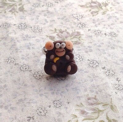 monkey ring Cheeky Adjustable Handmade Cute Goth Retro Emo zoo party bag gift