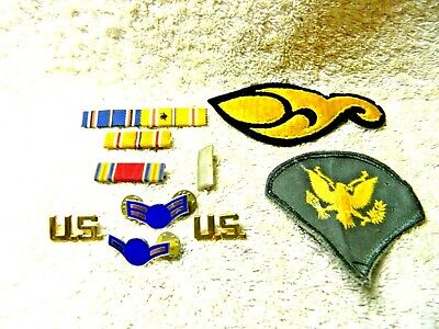 Lot of Military Patches & Ribbon Bars Plus Extra
