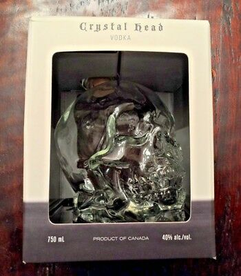 Crystal Head Vodka Skull Bottle Excellent 750 ml w/ Box