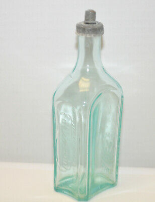 Vintage Antique Embossed Ed Pinaud Clear French Medicine Bottle