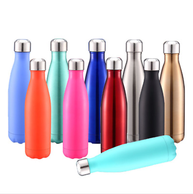 1L Double Walled Vacuum Insulated Stainless Steel Water Drinks Bottle Thermos