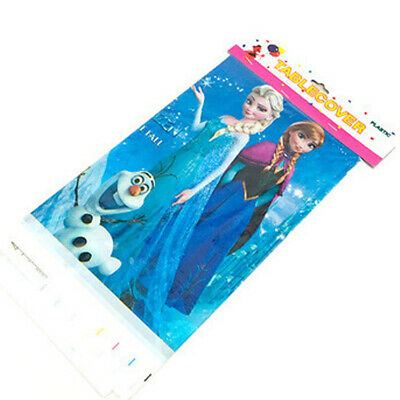 Frozen Kids Table Cover Cloth Tableware Party Supplies plastic 108CM X180CM