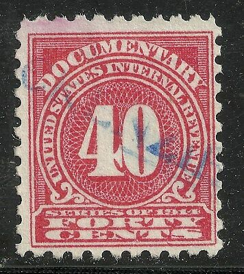 us revenue documentary stamp scott r203 - 40 cents issue of 1914
