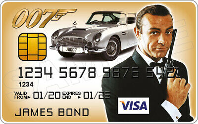 Sean Connery - James Bond Novelty Plastic Credit Card