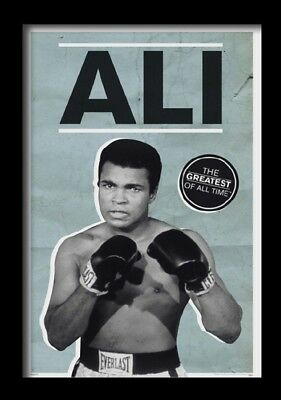 MUHAMMAD ALI GREATEST 13x19 FRAMED GELCOAT POSTER BOXING WORLD CHAMPION ICONIC!!