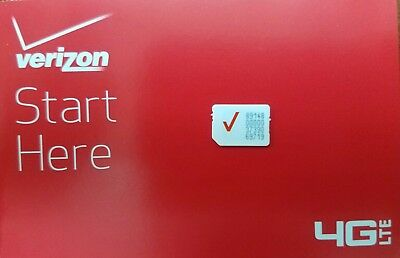 VERIZON NANO 4FF SIM (L)• CDMA 4GLTE • NEW Genuine OEM •  Prepaid or Contract