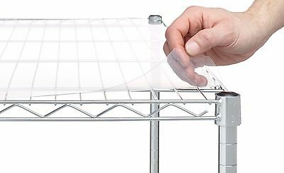 "Shelf Clear Plastic 4 Liners X Wire Shelving Liner Pack 18"" X 48"""