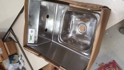 "Regency 12"" x 16"" Wall Mounted Hand Sink  ONLY! WITH Side Splash 600hs12sp"