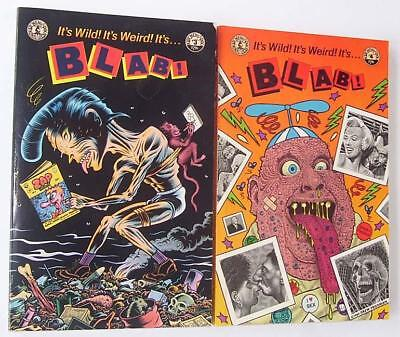 Blab! #3 and #4 Kitchen Sink Press 1988 & 1989 Independent and Underground Comix