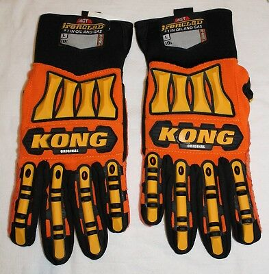KONG Genuine Ironclad Safety Impact BEST Work Gloves Hand Protection Oil LARGE L