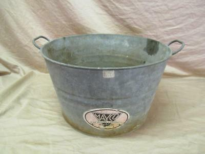 Antique 1930's The May Company GALVANIZED metal trowel bucket pail RARE LOGO