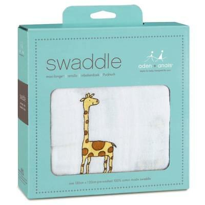 aden + anais Classic Swaddle 1 Pack Jungle Jam Giraffe - Free Shipping