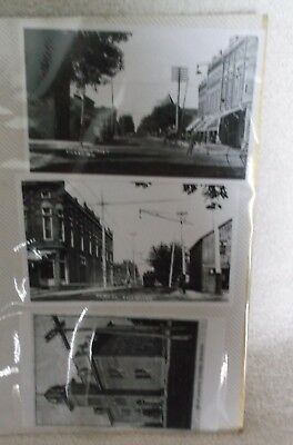 vintage CICERO Indiana B&W Picture Reproduction? Lot of 3 B&W Glossy Pics