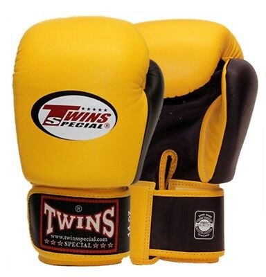 Twins Special Bgvl-3T Yellow/Blk 14oz Muay Thai/ Boxing Gloves