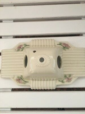 Vintage Porcelain Shabby Chic Ceiling/Wall Double Light Wall Sconce Fixture only