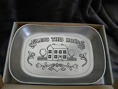 "Wilton Armetale ""Bless This House"" Serveware- 601013/In Original Box/EXCELLENT"