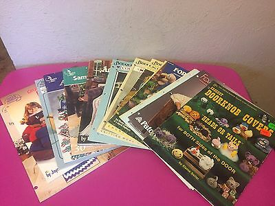 17 Knitting Afghans Crochet Patterns Annies Attic American School Bouquet & more