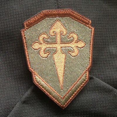 Gold Crusader Knights Of Santiago Insignia Templar Christian Forset Hook Patch