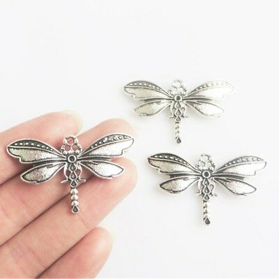 20pcs Antique Silver Dragonfly Charms Pendants DIY Jewelry Making Findings