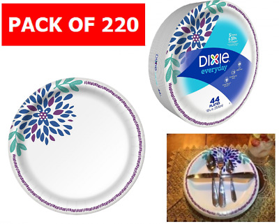 Dixie Bulk Paper Plates HD, 10 1/16 Inches, Disposable Party Tableware 220 Count